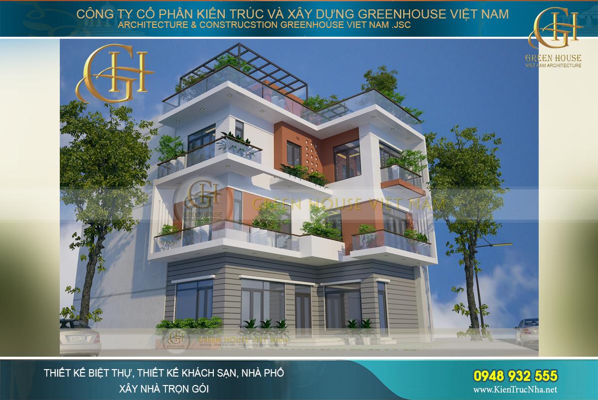 Sở hữu 2 mặt tiền rộng và đẹp căn nhà được thiết kế ấn tượng của anh Túy ở Bắng Giang.