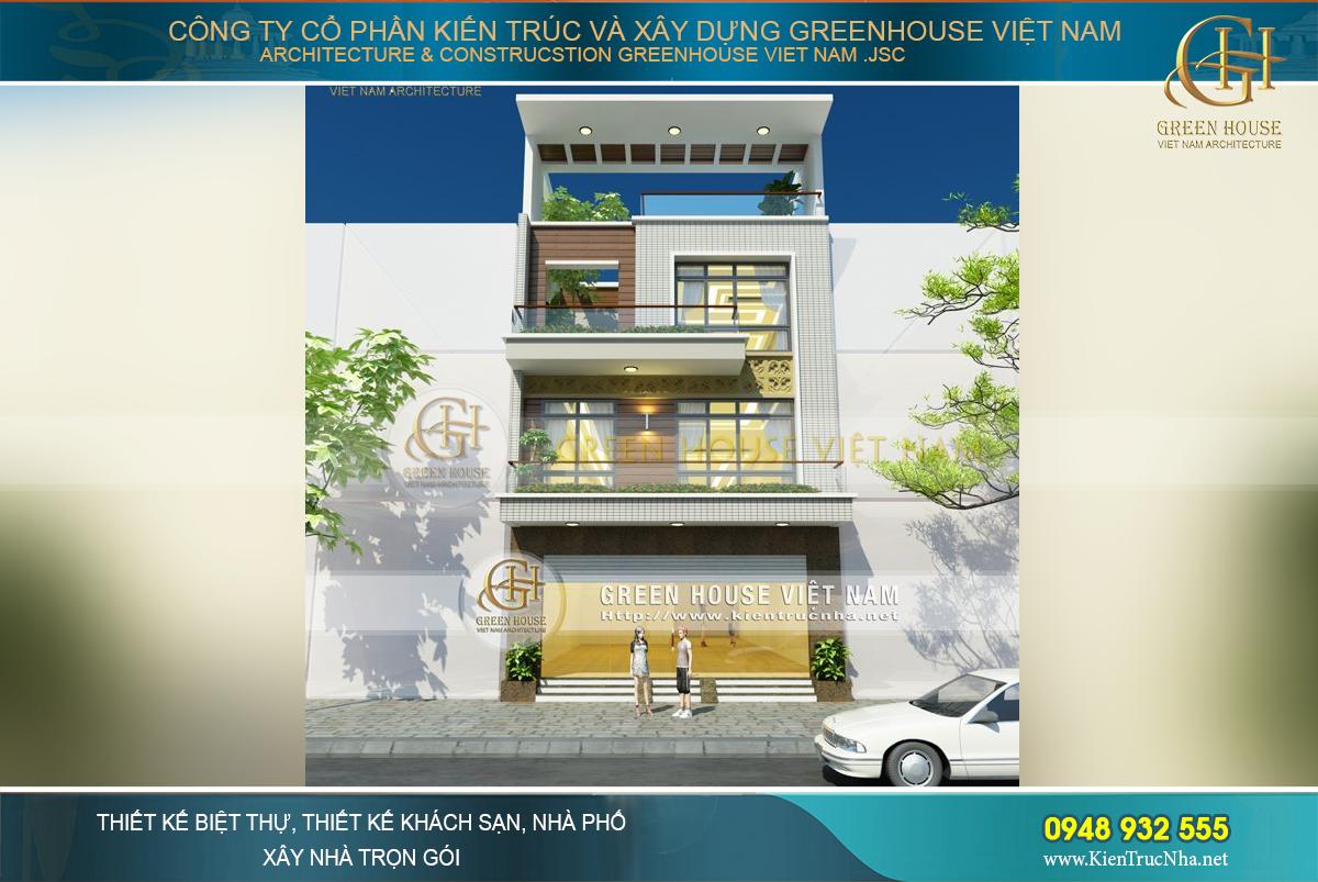 Thiết kế nhà phố 3 tầng thêm 1 tăng thêm không gian sinh hoạt tiện nghi hơn.