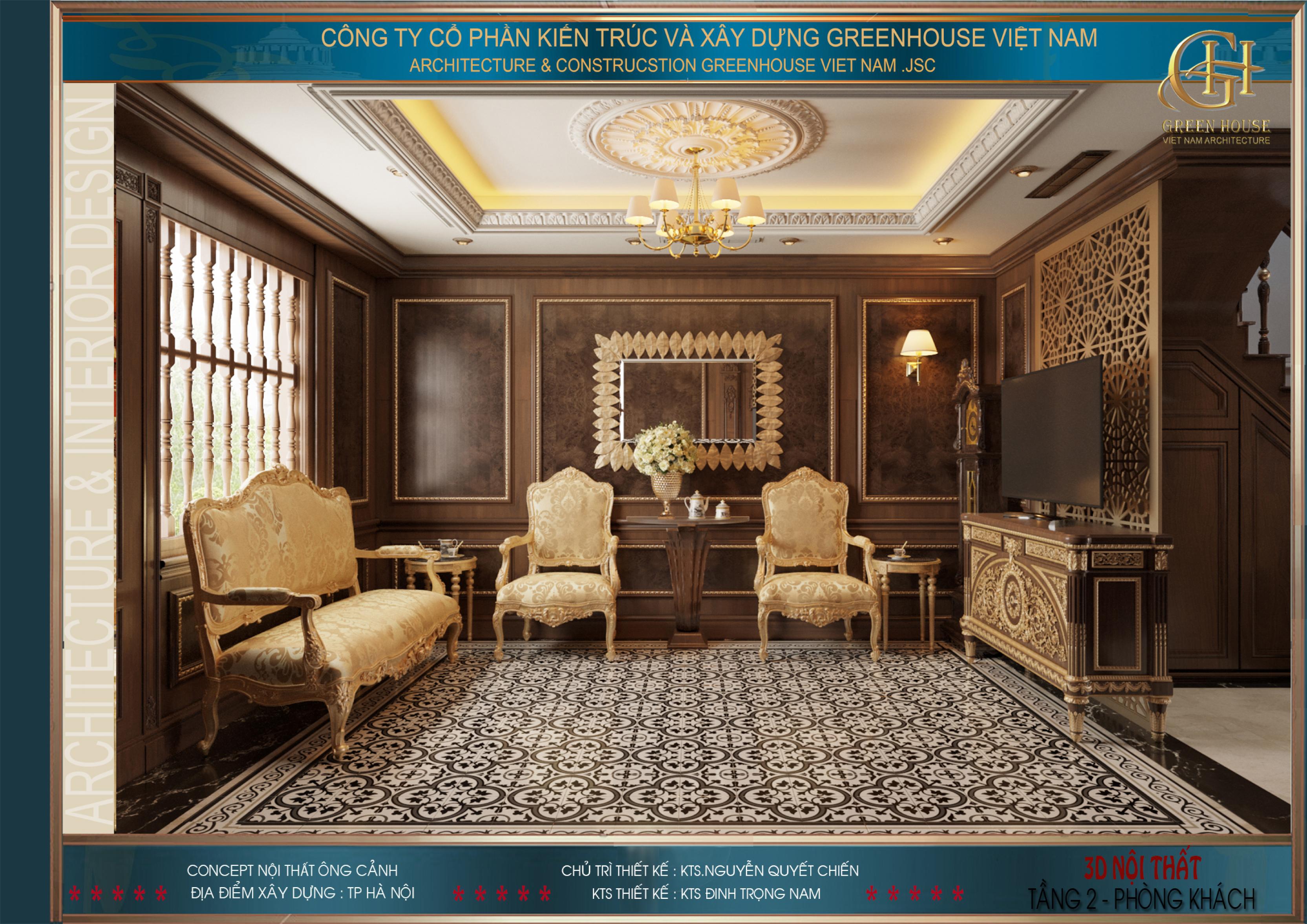 Bộ sofa cao cấp màu vàng tạo điểm nhấn ấn tượng cho không gian