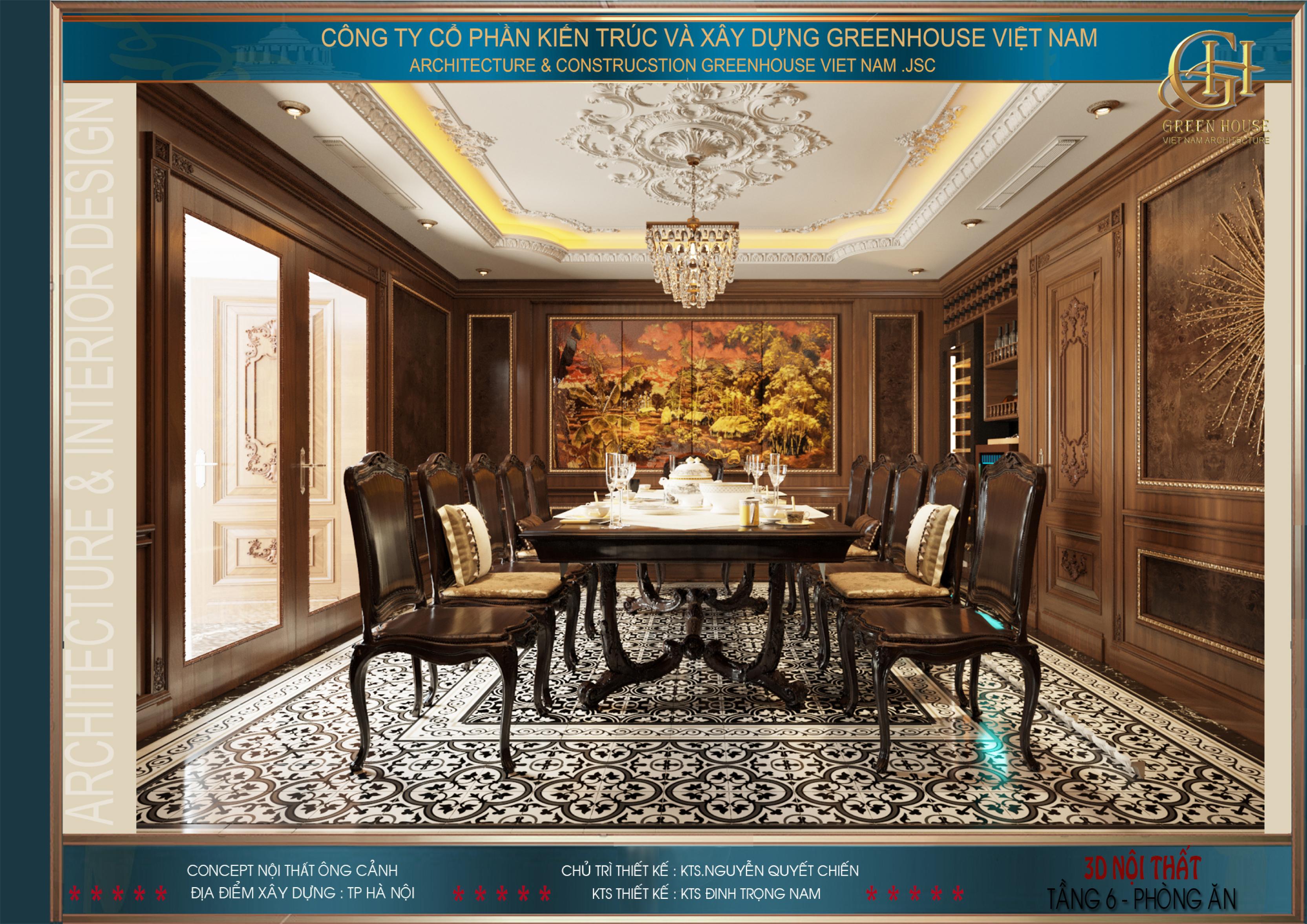 Thiết kế nội thất phòng ăn cực kỳ tinh tế và tỉ mỉ
