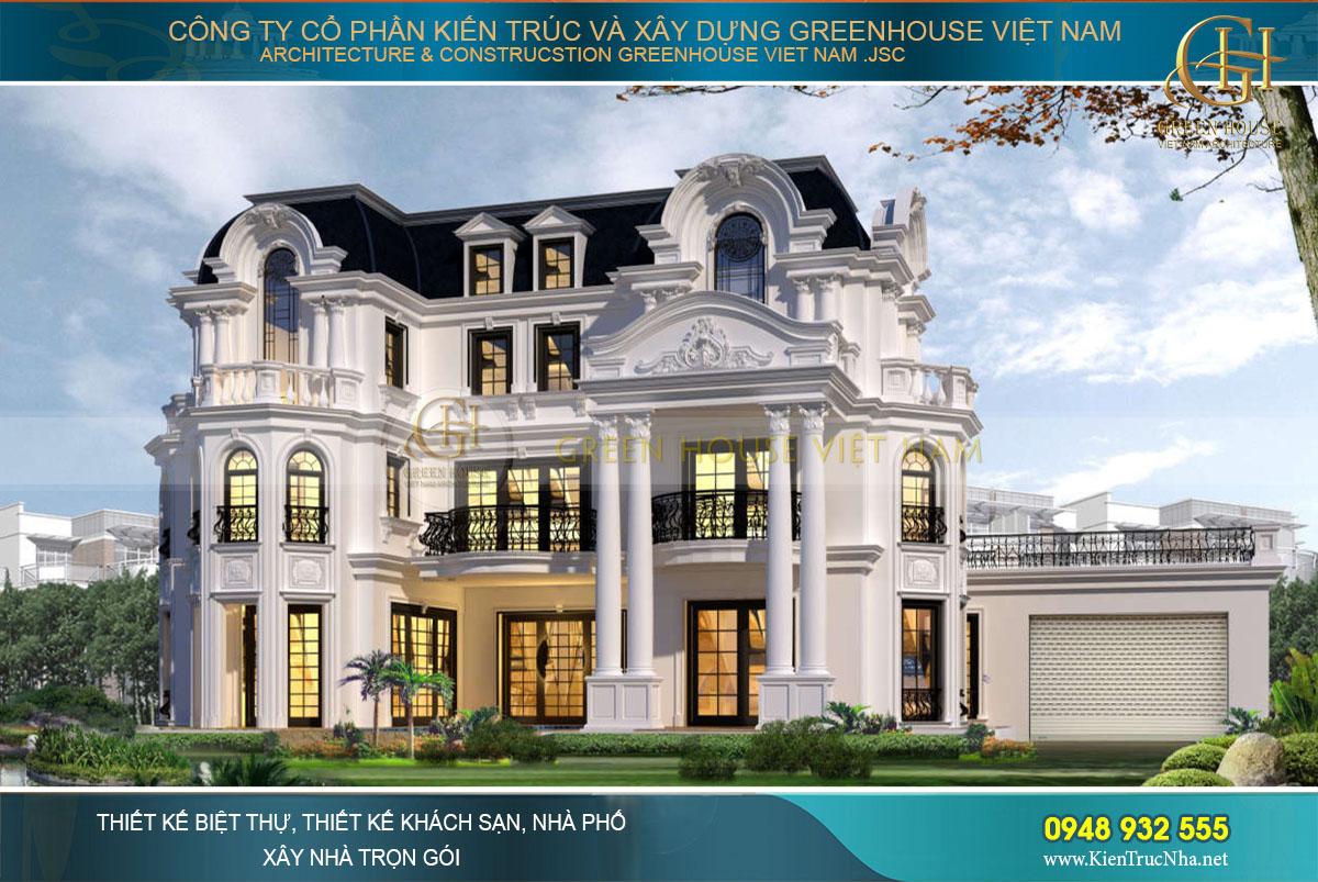 Greenhouse Việt Nam chuyên thiết kế và thi công trọn gói biệt thự tân cổ điển