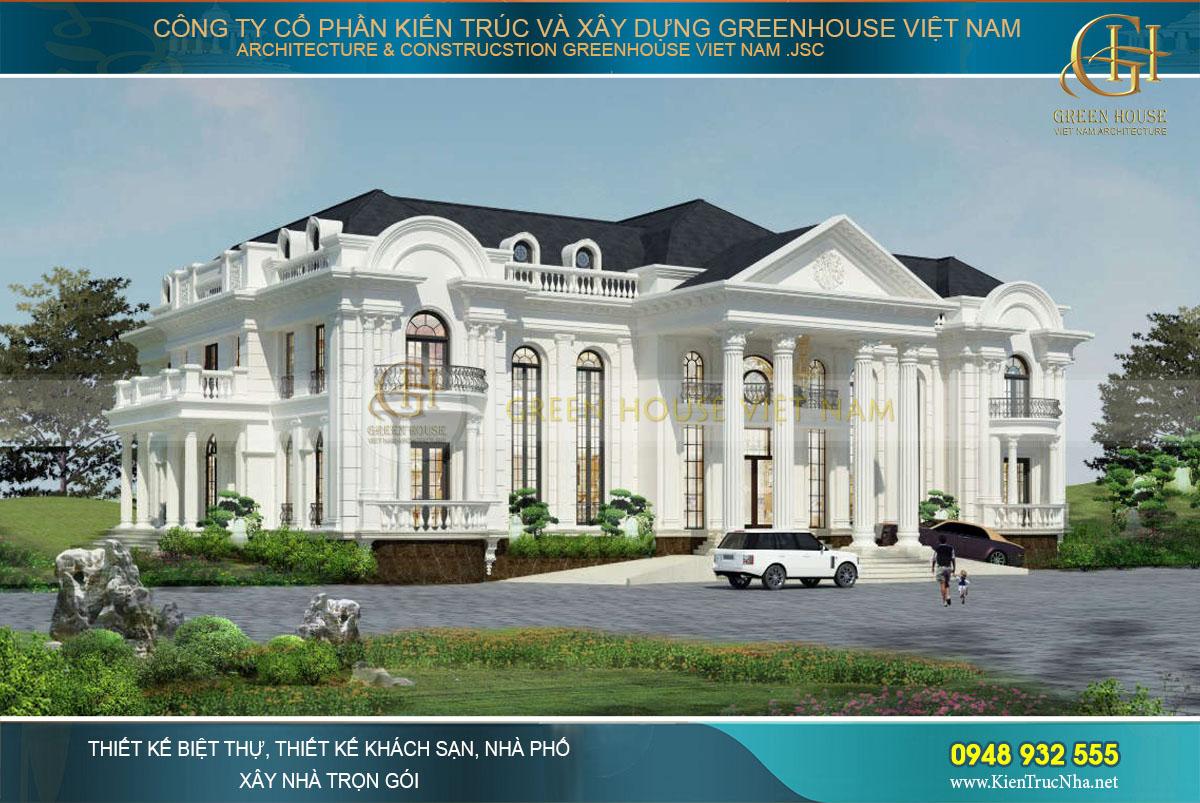 BST các mẫu thiết kế biệt thự tân cổ điển đẹp xao xuyến tại Green House Việt Nam