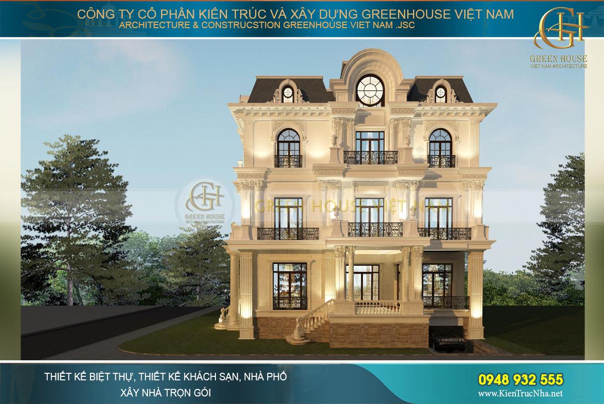 Biệt thự được thiết kế theo xu hướng biệt thự có tầng hầm để gia tăng không gian sử dụng
