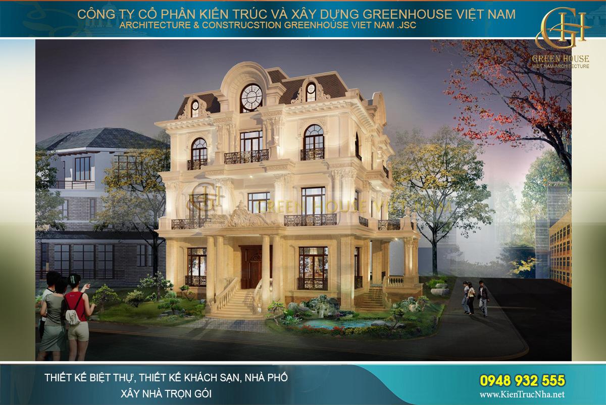 Một công trình biệt thự cổ điển châu Âu đẹp tráng lệ khiến bao ánh mắt phải say đắm
