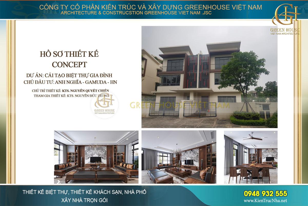 Mẫu biệt thự 3 tầng hiện đại tại Hà Nội của CDT Anh Nghĩa