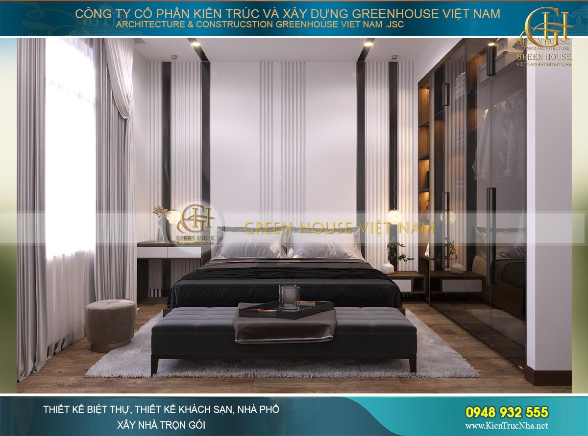 Phòng ngủ mang một phong cách huyền bí, sang trọng đầy khác biệt