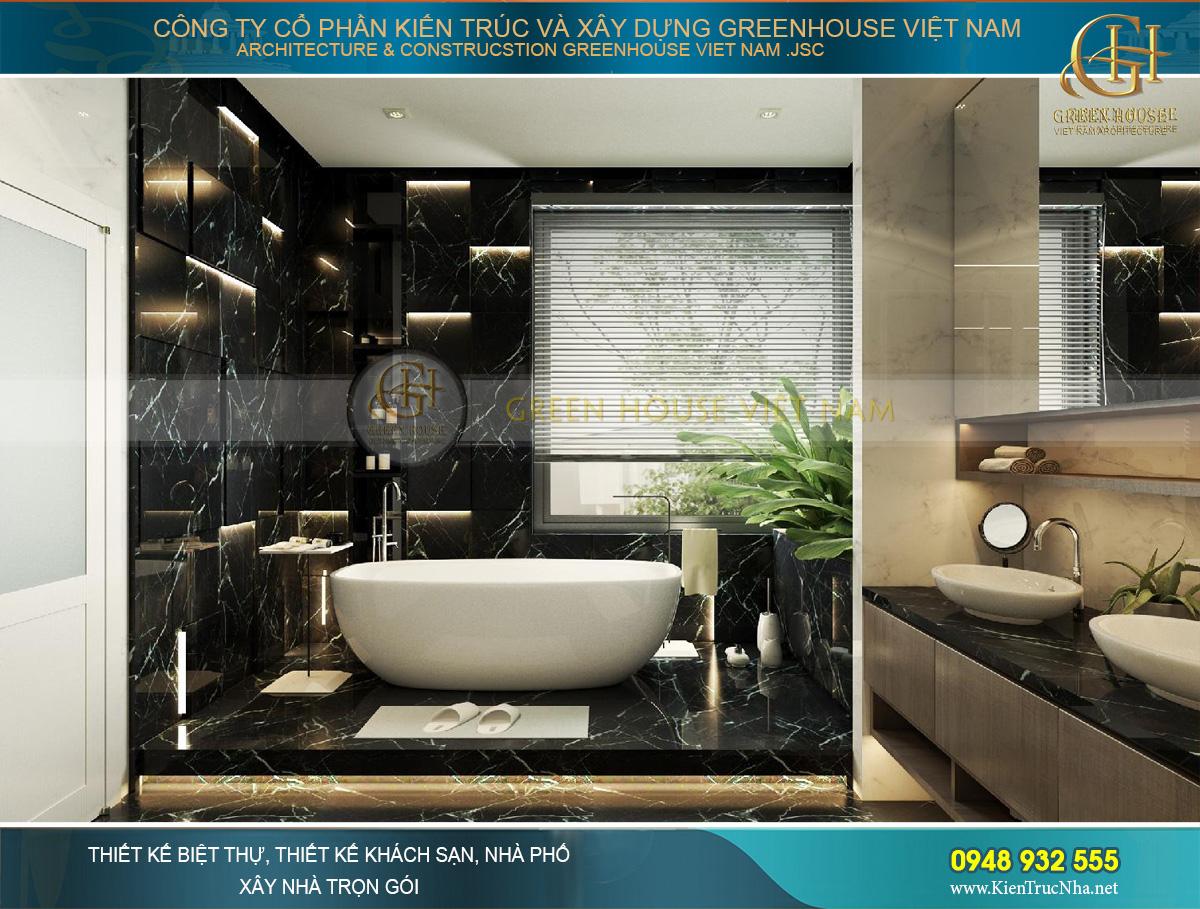 Thiết kế phòng tắm độc đáo đầy ấn tượng của phòng ngủ master
