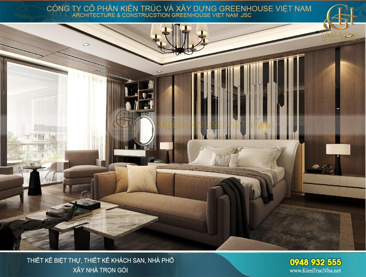 Phòng master được thiết kế với sự kiêu ngạo, khẳng định địa vị và cái tôi của chủ sở hữu