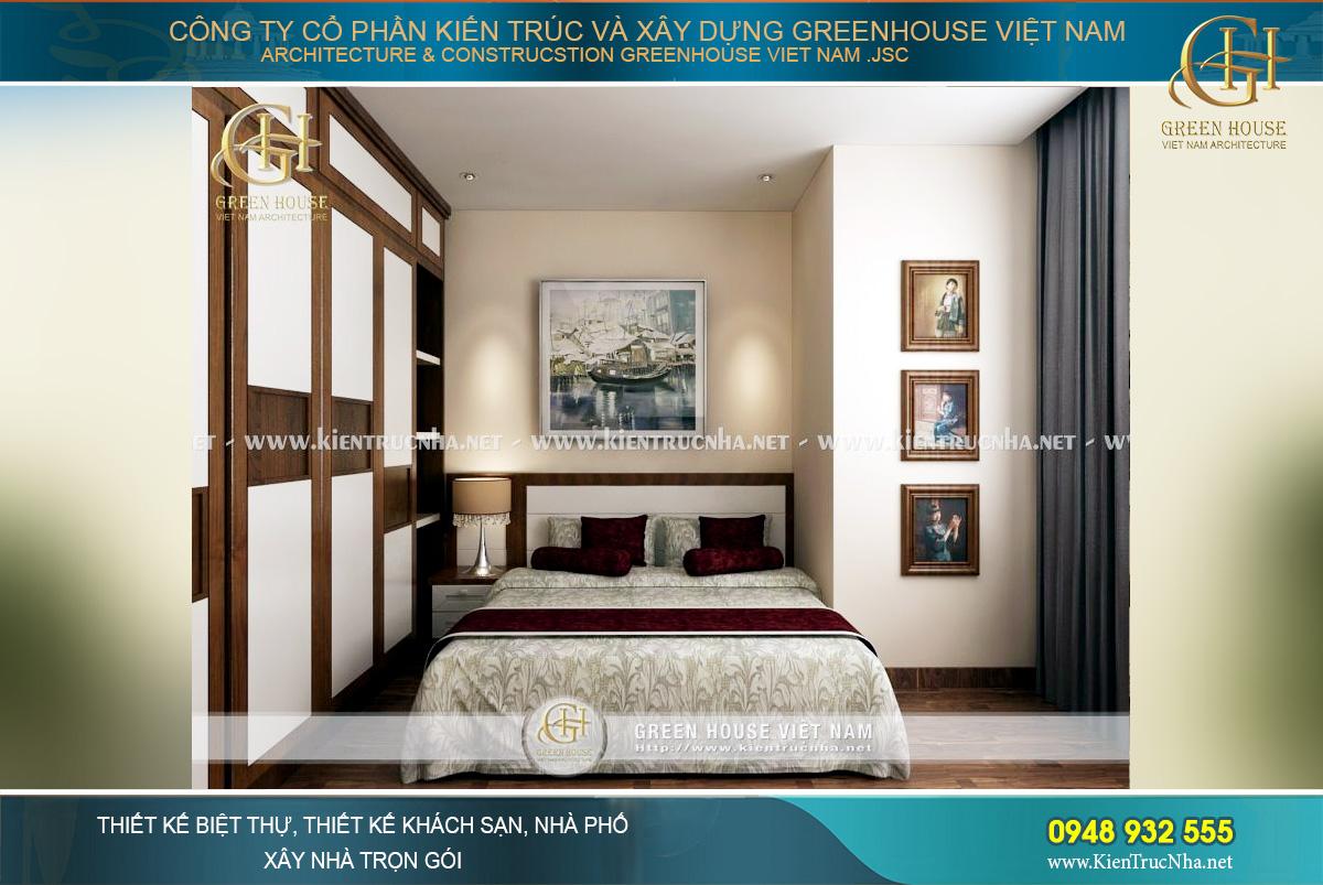 Thiết kế nội thất phòng ngủ cho 3 thế hệ trong gia đình