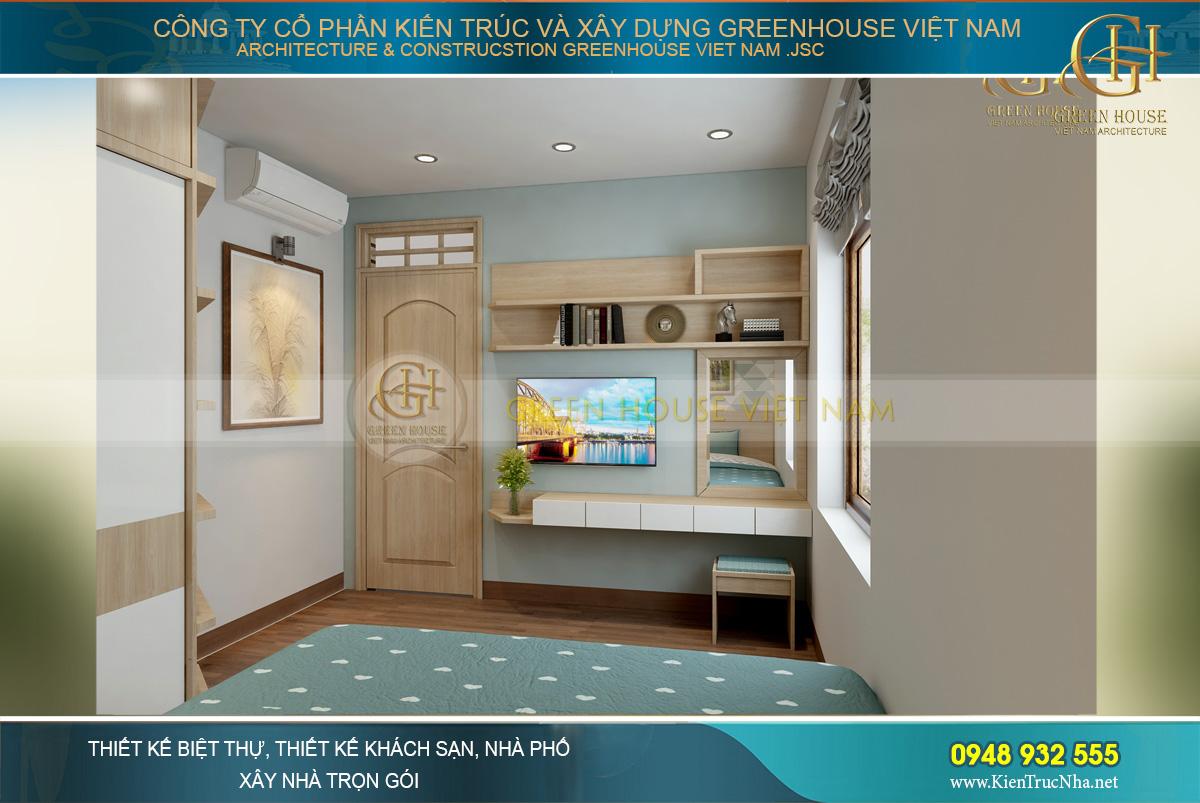 Thiết kế nội thất phòng ngủ hiện đại, trẻ trung