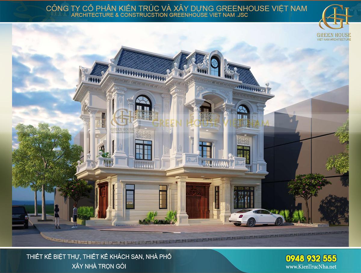 Tổng hợp dự án biệt thự cổ điển kiểu Pháp đẹp đã bàn giao cho CĐT