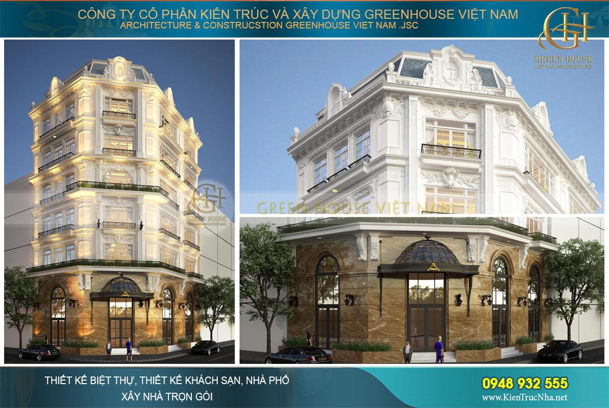 Các tầng của khách sạn tân cổ điển được trau chuốt tỉ mỉ, toát lên vẻ đẹp tinh tế và sang trọng