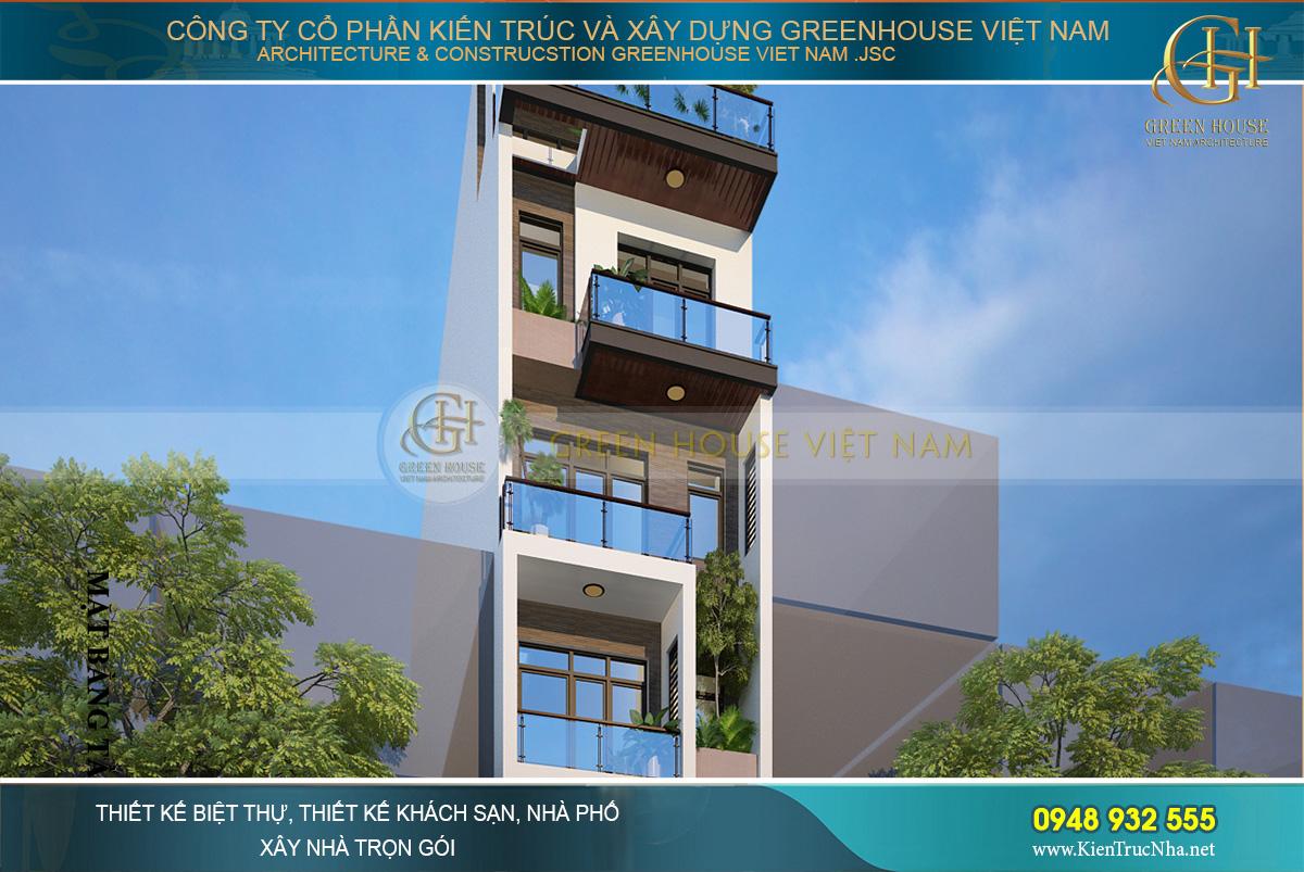 Tầng 2 đến tầng 6 được thiết kế theo lối giật cấp lệch tầng tạo các khoảng thông gió