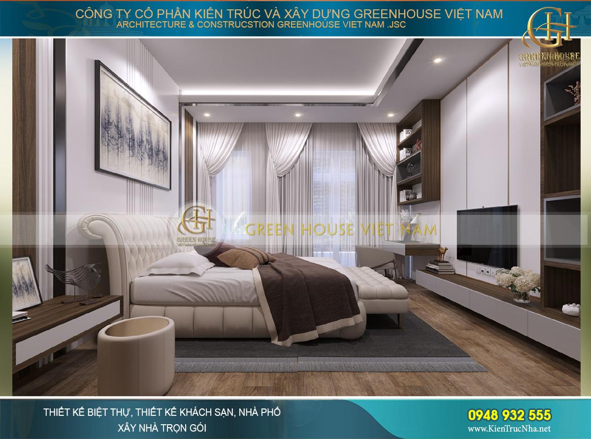 Phòng ngủ master sử dụng những món đồ nội thất cao cấp, thời thượng nhất
