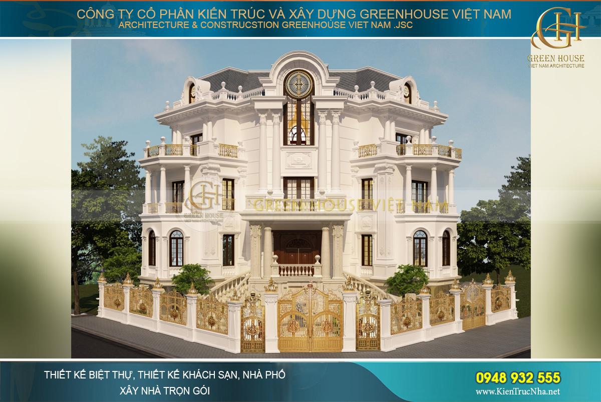 Vẻ đẹp lộng lẫy của tòa biệt thự cổ điển 4 tầng