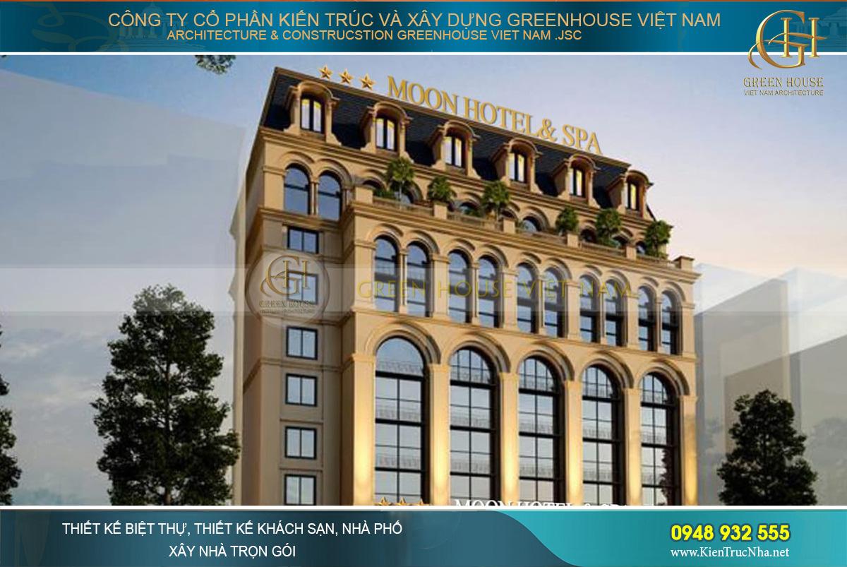 Thiết kế kiến trúc khách sạn với những mái vòm cao vút đầy ấn tượng