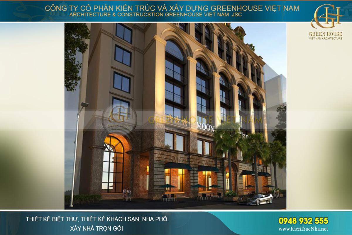 Công trình kiến trúc khách sạn mang đậm vẻ đẹp hoàng gia châu Âu