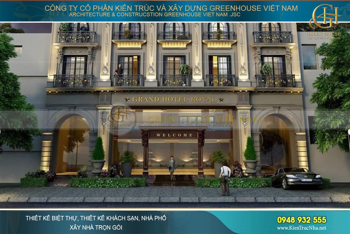Thiết kế kiến trúc tầng 1 với vẻ đẹp cổ điển lịch lãm, mang đậm phong vị châu Âu