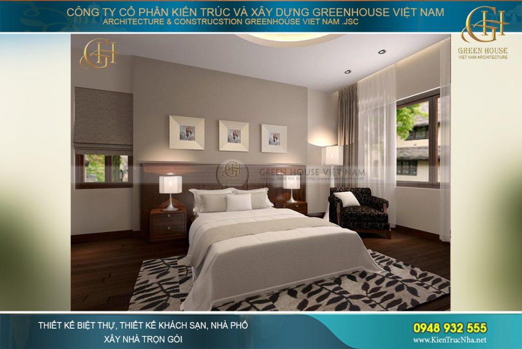 Không nên thiết kế phòng tắm đối diện với giường sẽ mang đến những điều không may về sức khỏe cho gia chủ