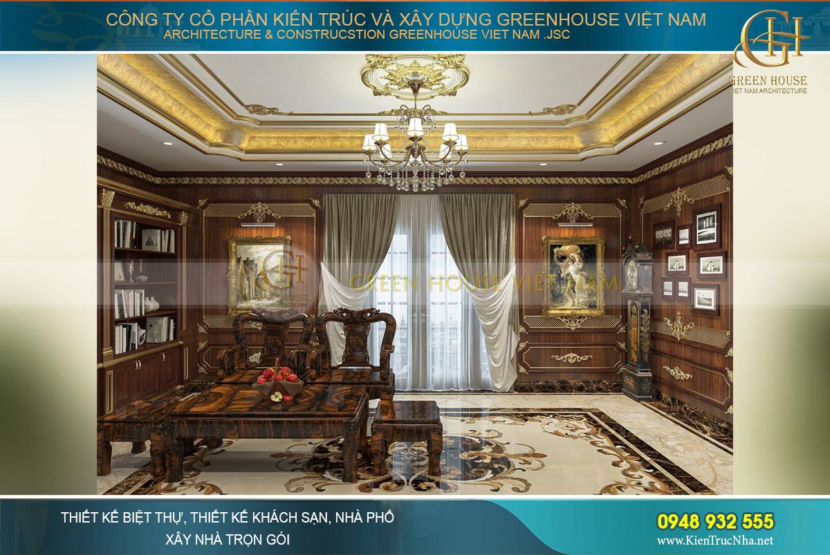 Thiết kế nội thất không gian phòng kỷ vật của biệt thự tân cổ điển 4 tầng tại Bắc Giang