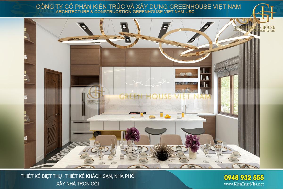 Phòng ăn được thiết kế đơn giản, trang nhã nhưng đủ nổi bật để gây ấn tượng khó quên