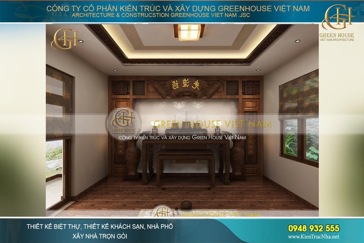 Thiết kế phòng thờ mang đậm phong cách Á Đông
