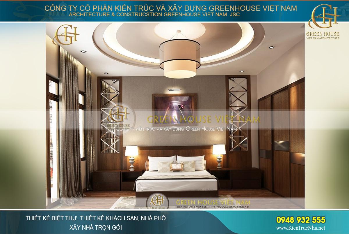 Thiết kế phòng ngủ master với vẻ đẹp pha trộn giữa truyền thống và hiện đại