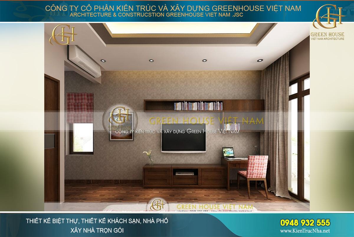 Sử dụng giấy dán tường để tạo chiều sâu cho căn phòng thêm rộng thoáng