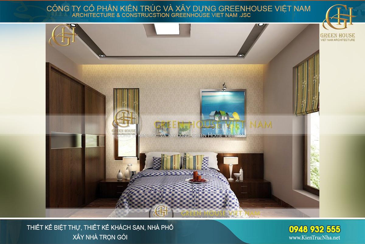 Phòng ngủ con trai với gam màu xanh mạnh mẽ và cá tính