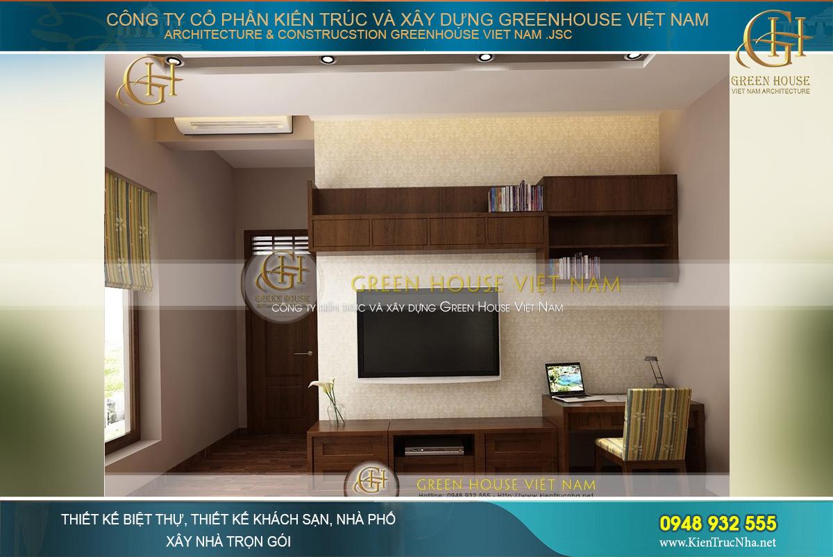Diện tích phòng ngủ khá nhỏ nhưng vẫn được thiết kế với đầy đủ nội thất và không gian thông thoáng