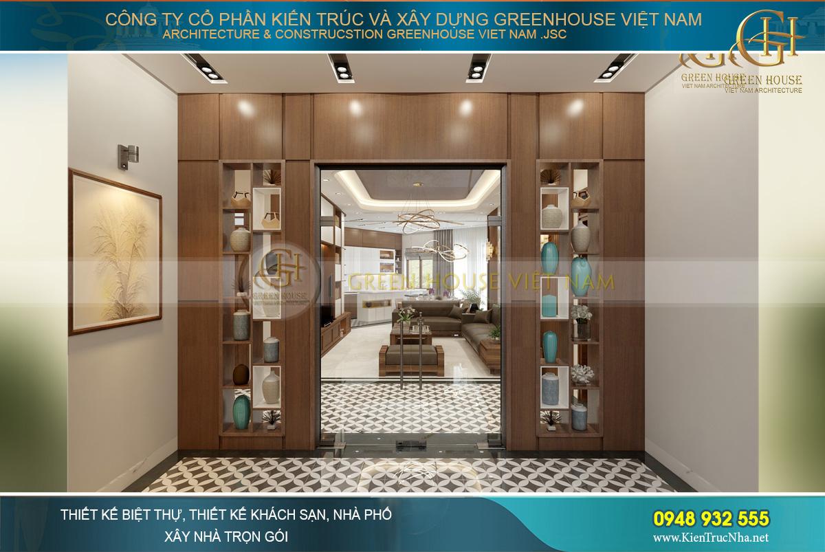Thiết kế sảnh thang của căn hộ chung cư tại Hà Nội