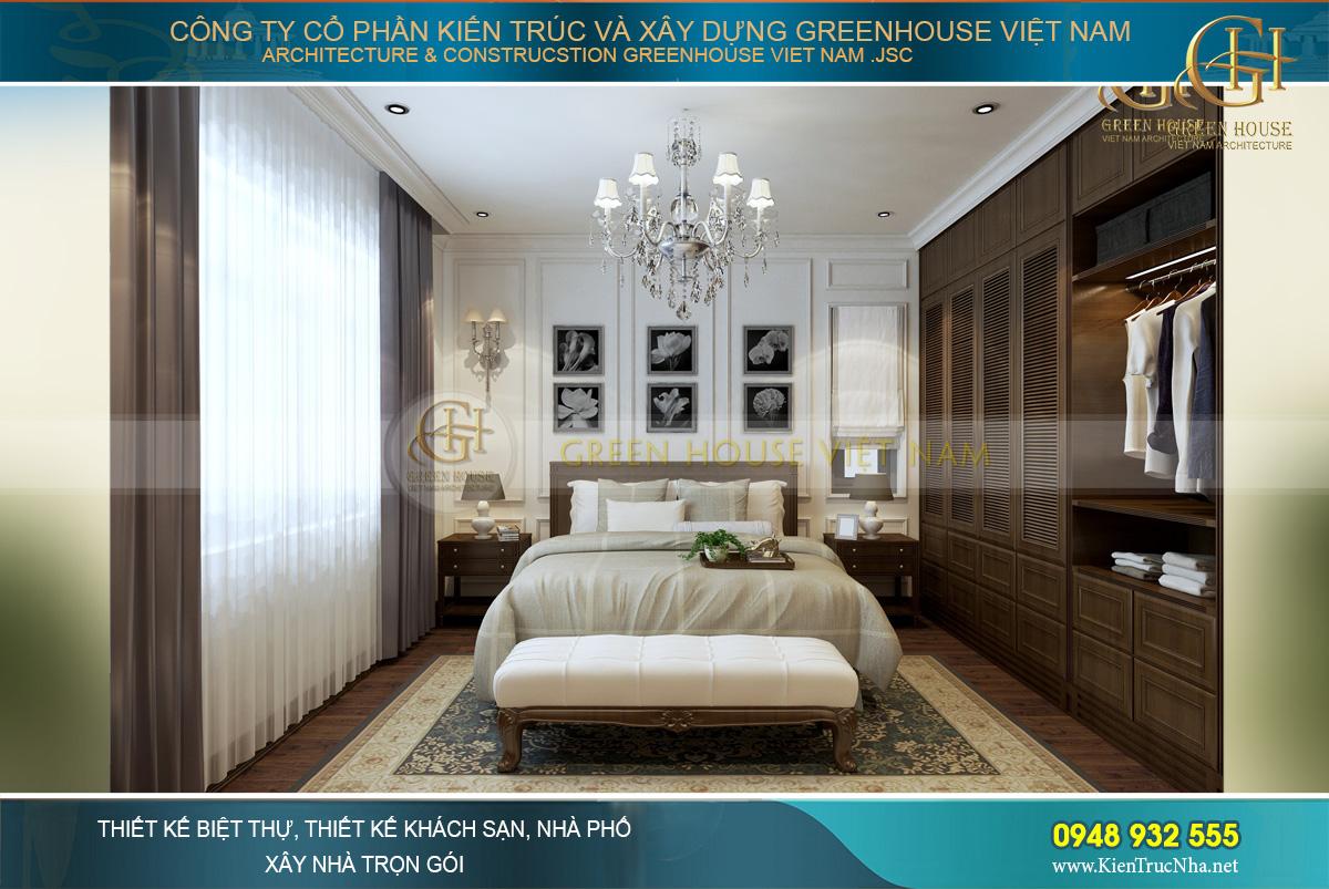 Thiết kế phòng ngủ với vẻ đẹp giao hòa của văn hóa Á Đông và tân cổ điển phương Tây