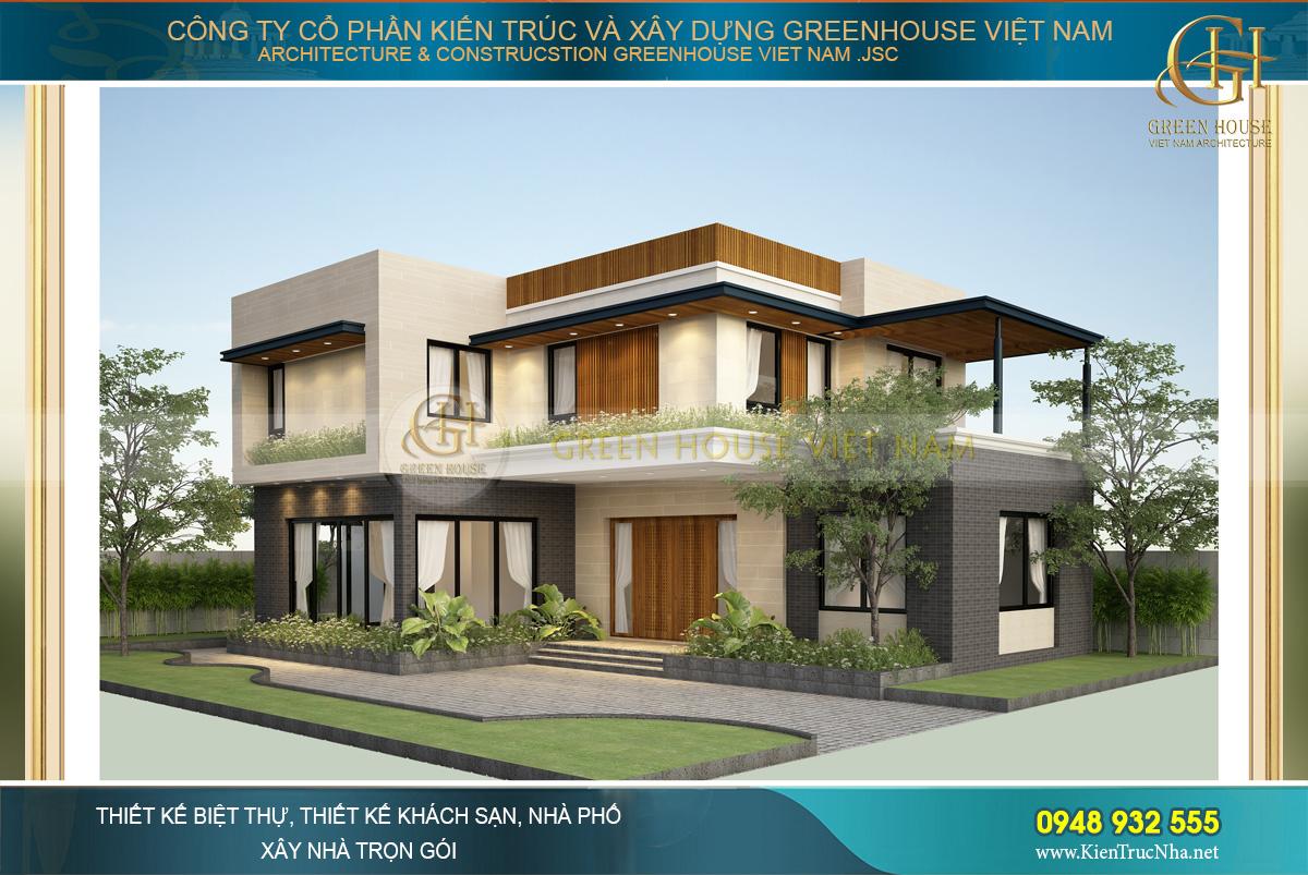 Thiết kế biệt thự hiện đại 2 tầng đẹp tại Hà Nội
