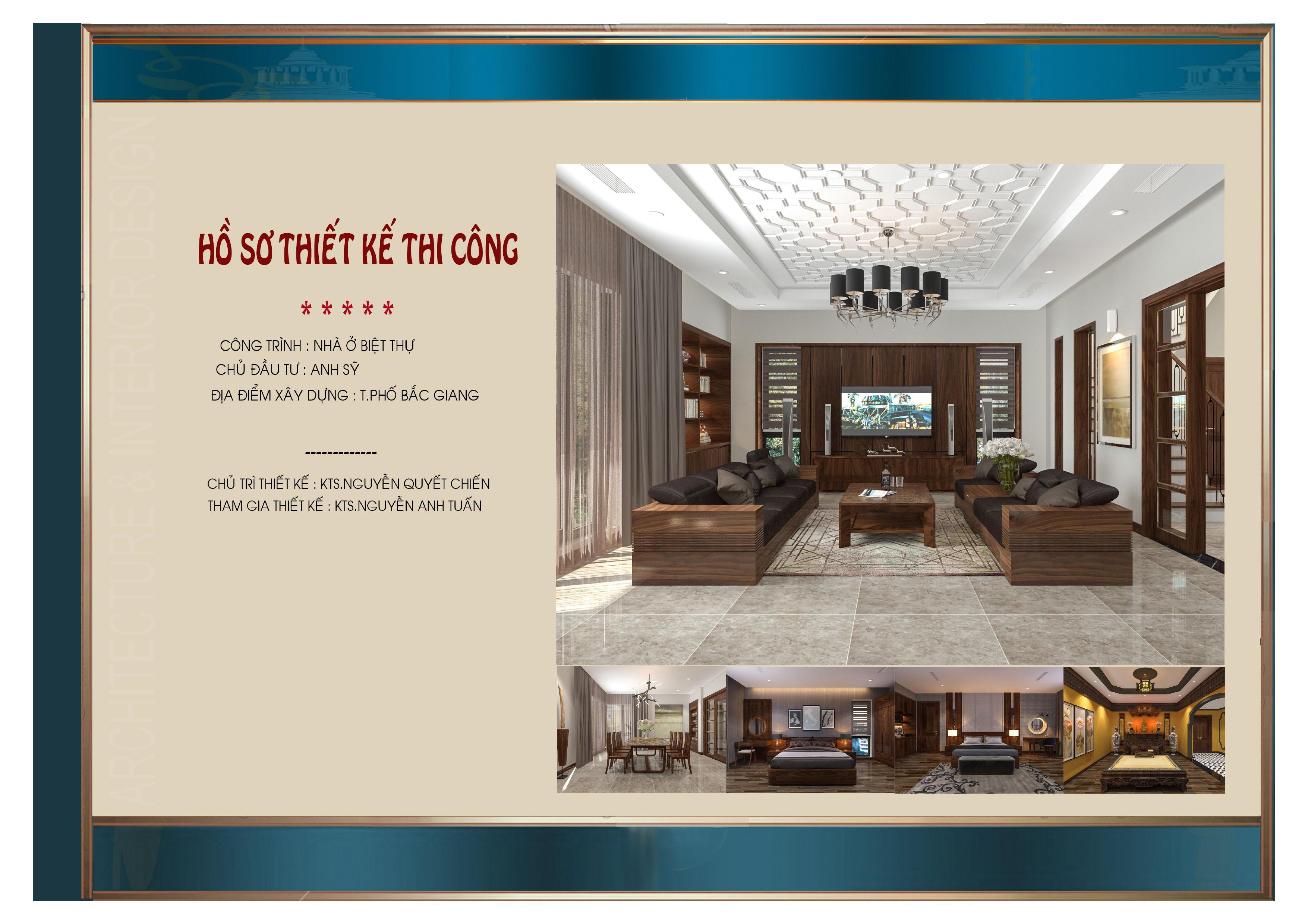 Thiết kế nội thất nhà phố tân cổ điển 3 tầng ấn tượng tại Bắc Giang