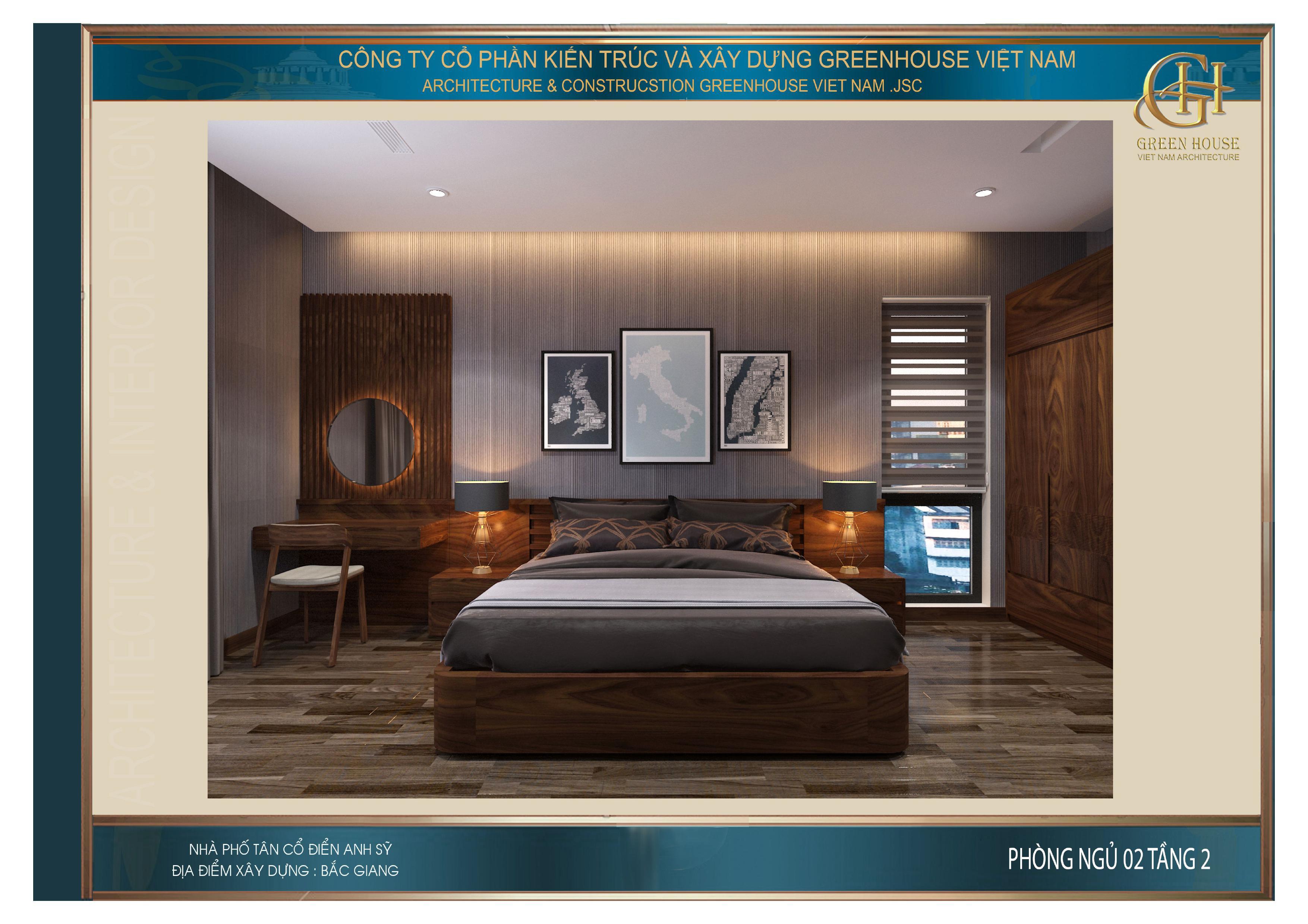 Căn phòng ngủ mang vẻ đẹp sang trọng với đôi nét hoài cổ
