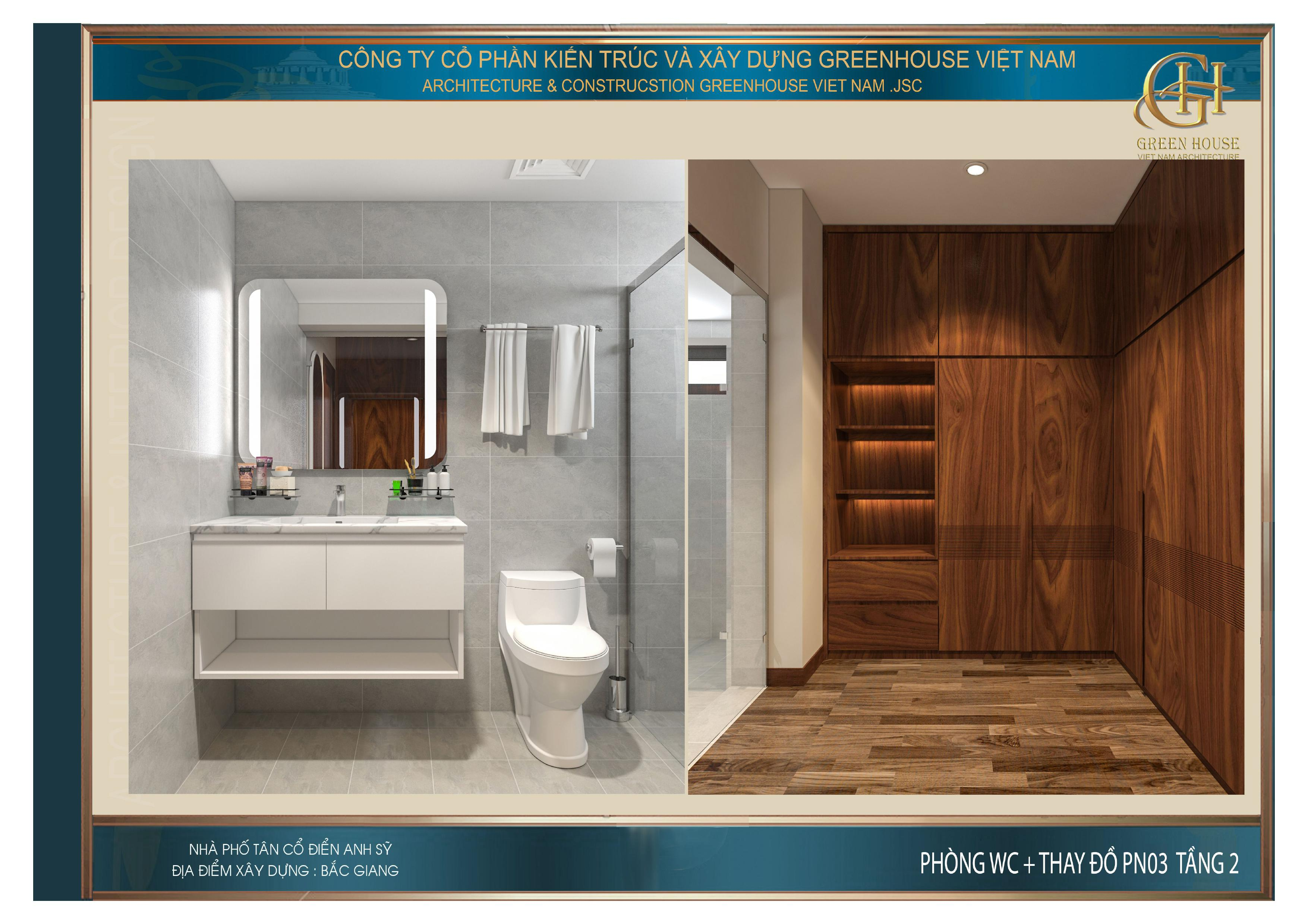 Phòng tắm và phòng thay đồ của phòng ngủ số 3