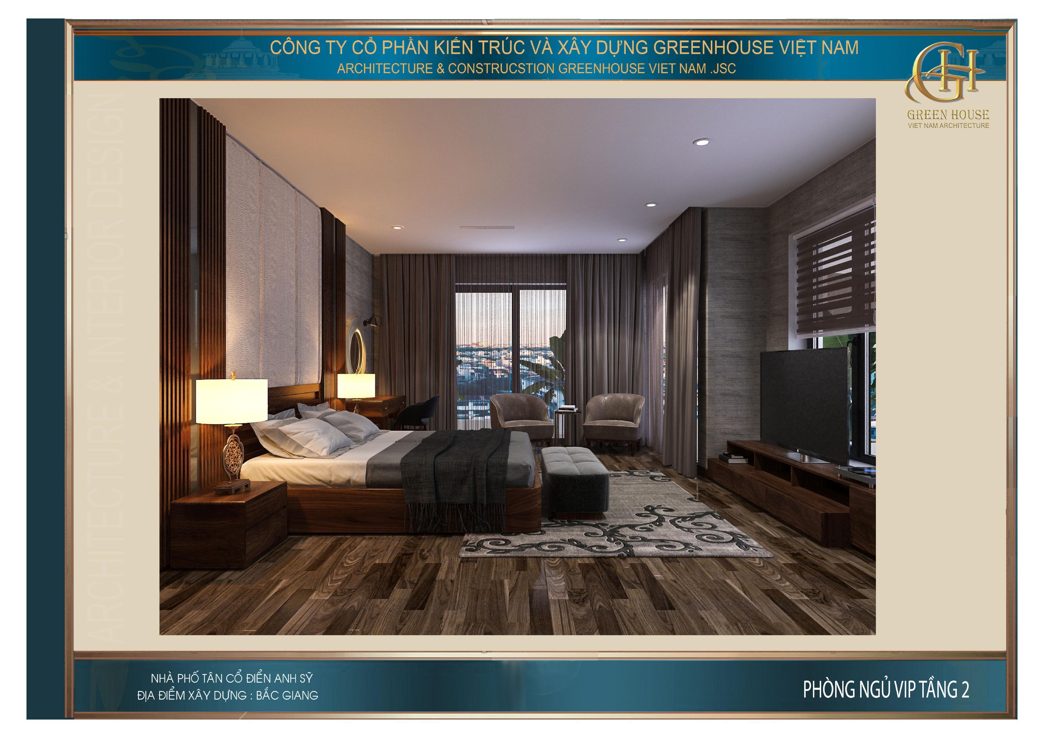 Phòng ngủ VIP của nhà phố tân cổ điển 3 tầng