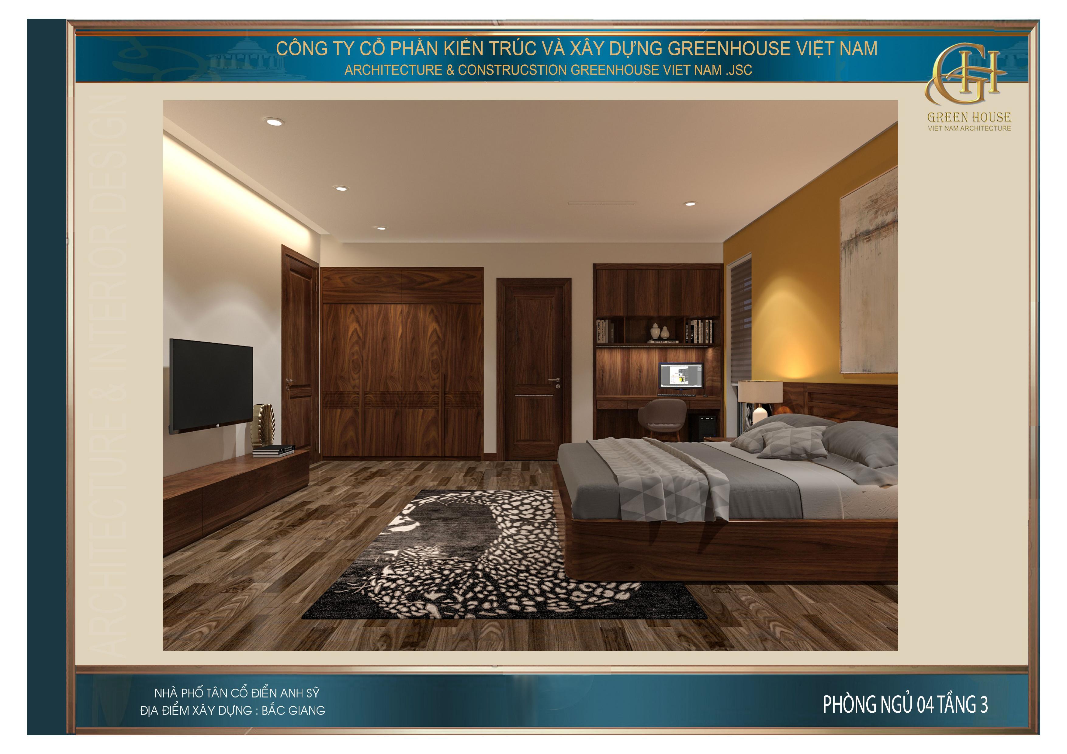 Toàn cảnh không gian bên trong của phòng ngủ tại tầng 3