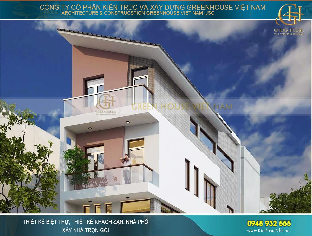 Các tầng trên của nhà phố hiện đại đều được thiết kế ban công rộng rãi, cửa sổ thông thoáng