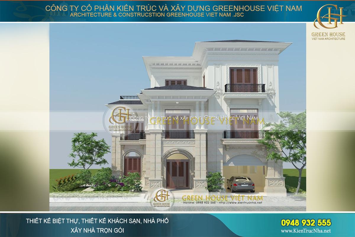 Mẫu biệt thự 3 tầng tân cổ điển đẹp đẳng cấp tại Bắc Giang