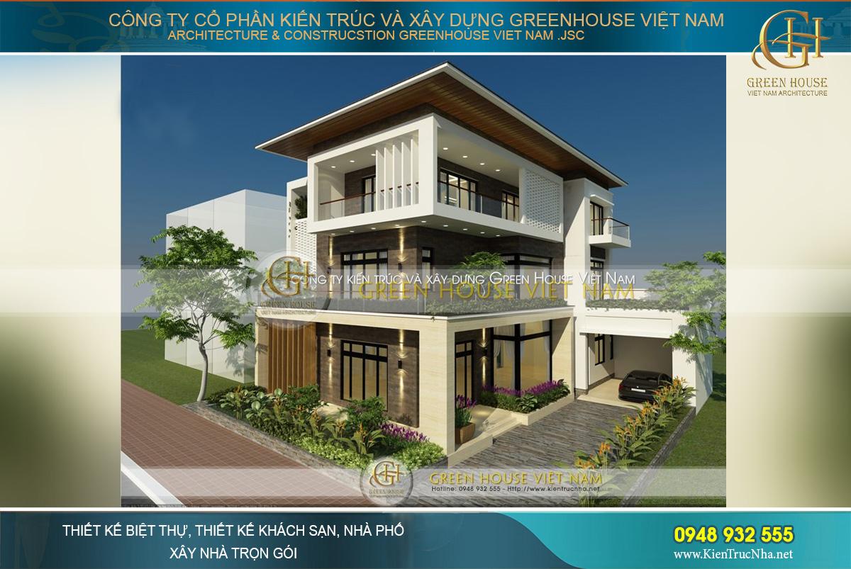 Toàn cảnh mẫu thiết kế biệt thự hiện đại 3 tầng mái Thái đẹp thời thượng