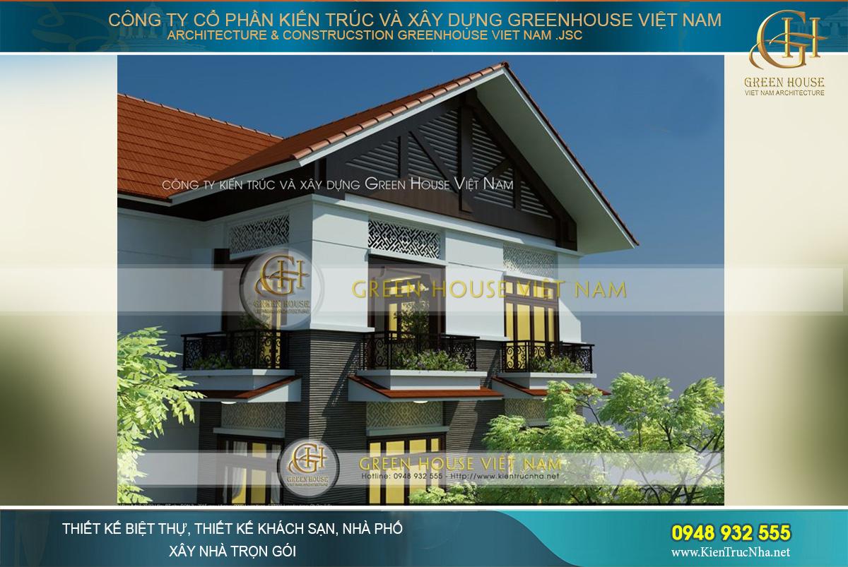 Kiến trúc mái dốc lợp ngói đỏ gợi nhớ nét đẹp thân thuộc, gần gũi của văn hóa Việt Nam