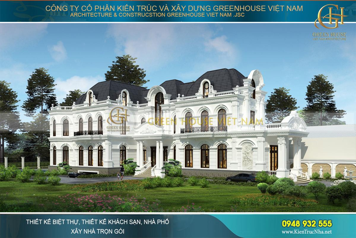 KTS Green House Việt Nam bằng tài năng thiết kế đẳng cấp đã mang tới cho khách hàng một công trình kiến trúc biệt thự sang trọng, đầy ấn tượng