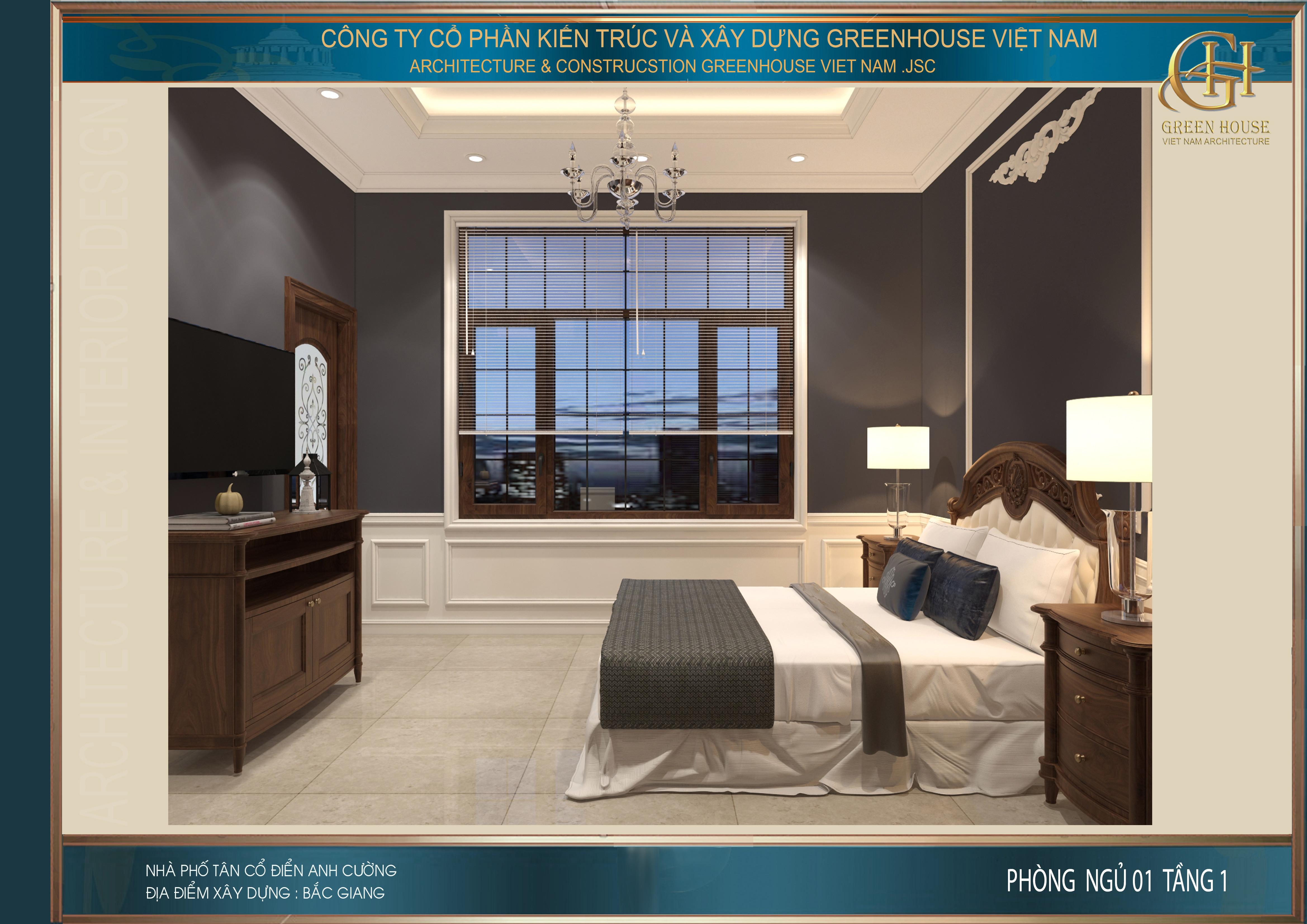 Hệ thống nội thất đồng bộ với không gian phòng khách