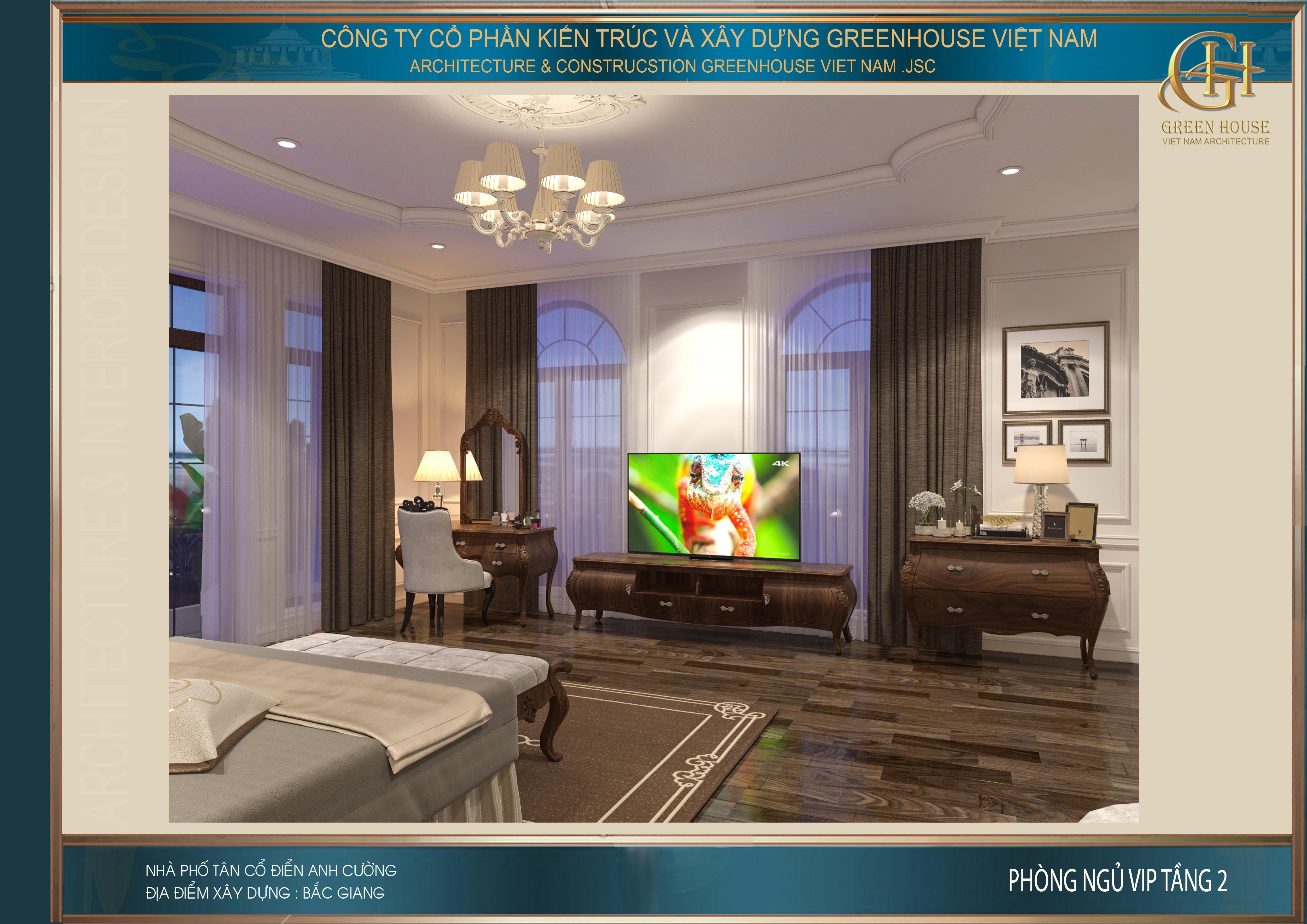 Toàn bộ hệ thống nội thất trong phòng đều đưuọc thiết kế bằng gỗ