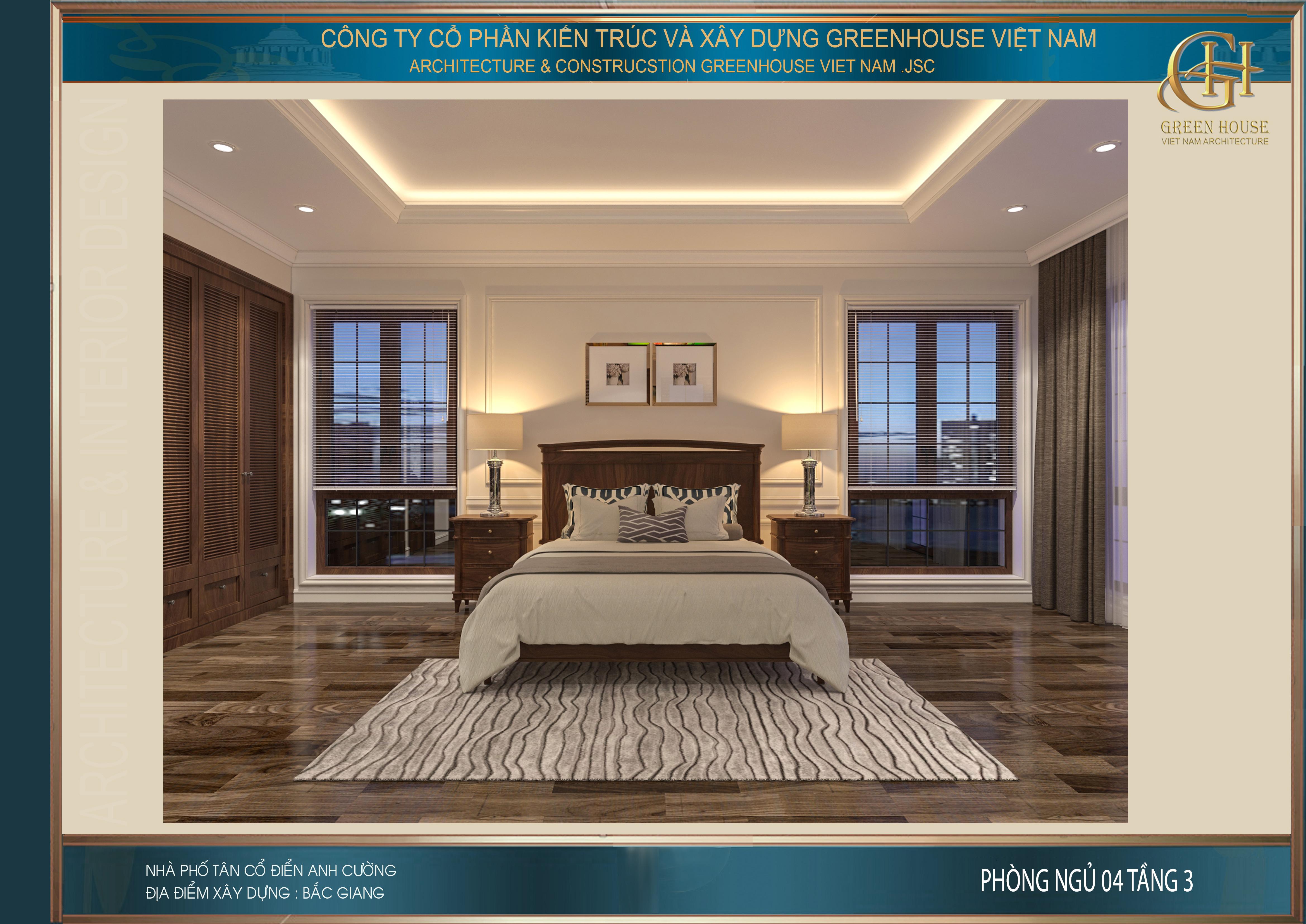 Phòng ngủ đẹp, sang trọng như 1 phòng khách sạn 5 sao