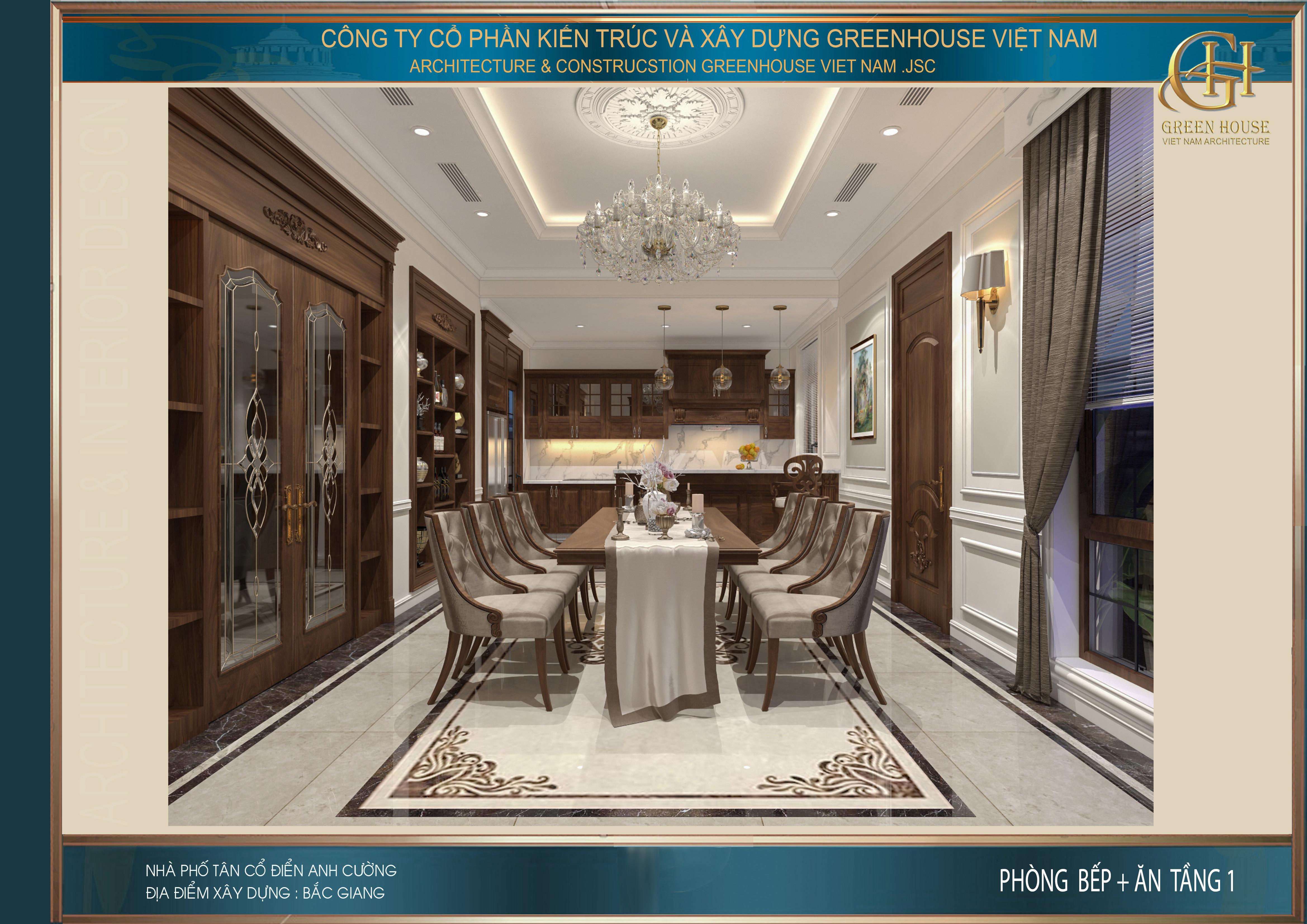 Thiết kế phòng bếp với vẻ đẹp tinh tế mà sang trọng cùng nội thất gỗ