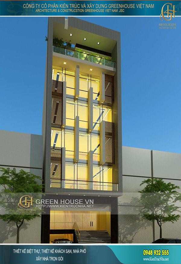 Kiến trúc sang trọng và bề thế của tòa nhà văn phòng 7 tầng