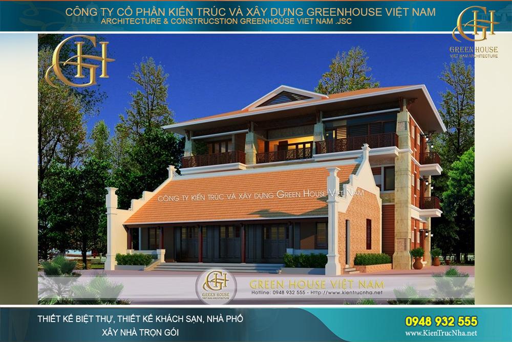 Mẫu thiết kế biệt thự sân vườn mang đậm phong cách Á Đông đẹp truyền thống mà độc đáo