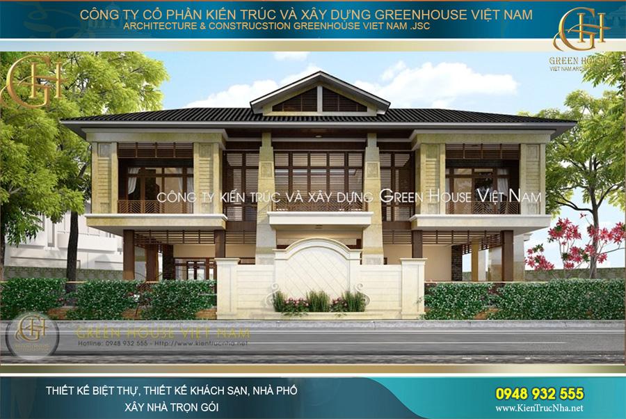 Thiết kế biệt thự hiện đại phong cách Á Đông độc đáo, mới lạ